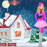 Барби зимой - флеш игры для девочек одевалки