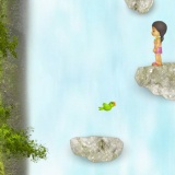 Прыгалка с водопада