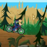 Флеш игра велосипед отважной девочки